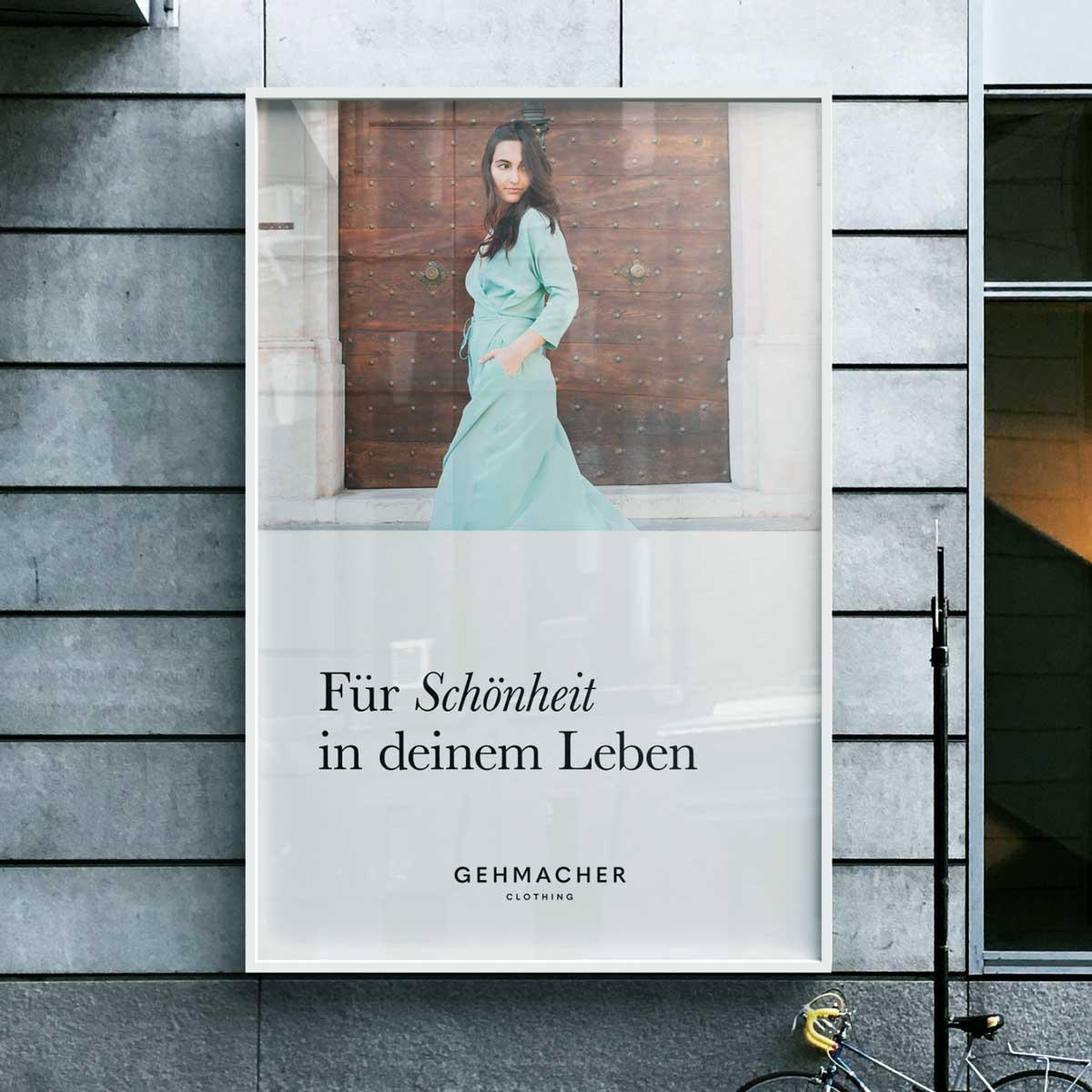 Werbeplakat des Unternehmens Gehmacher