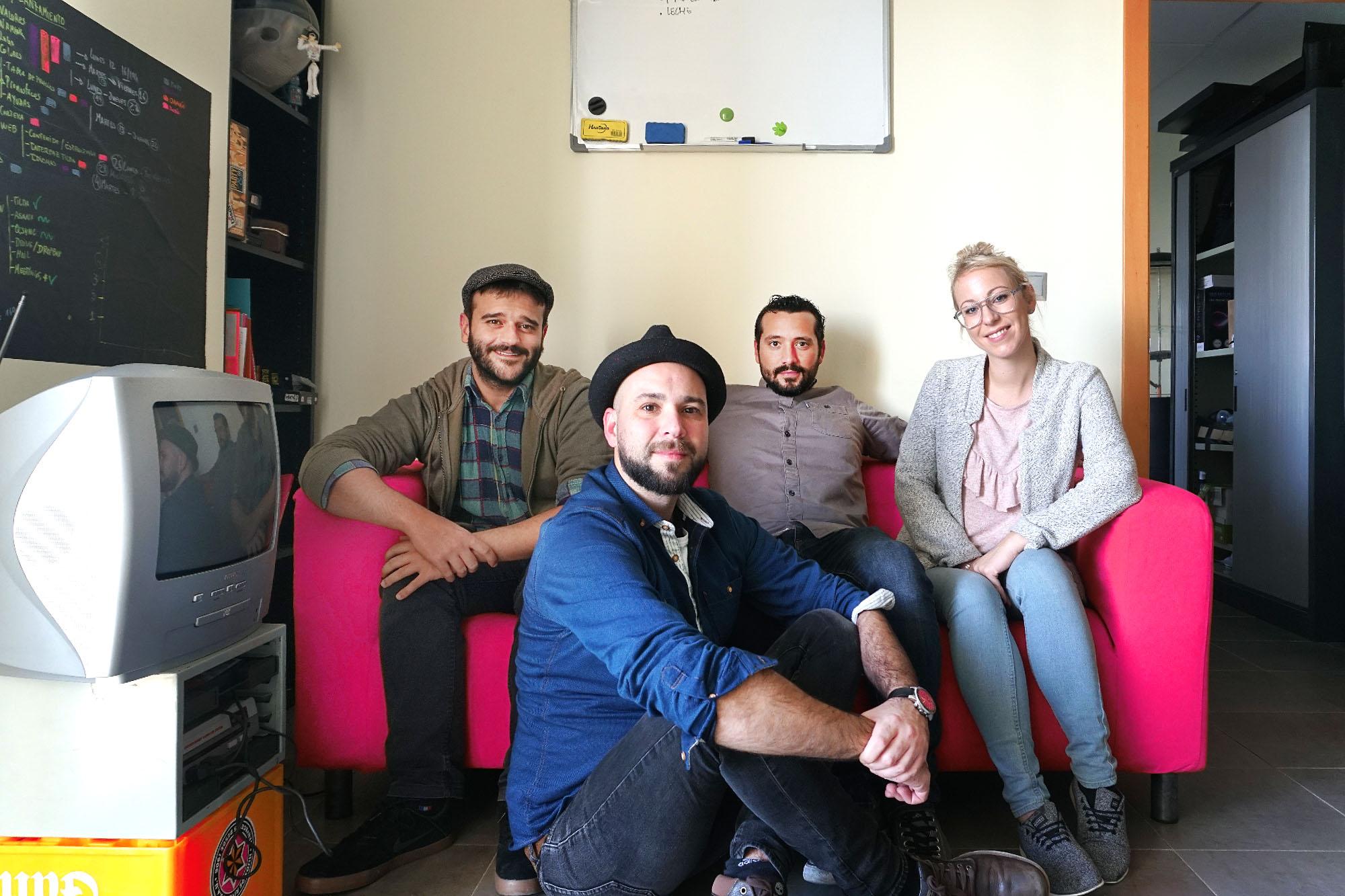 El equipo de Muylocal en su oficina de Cádiz de 2019