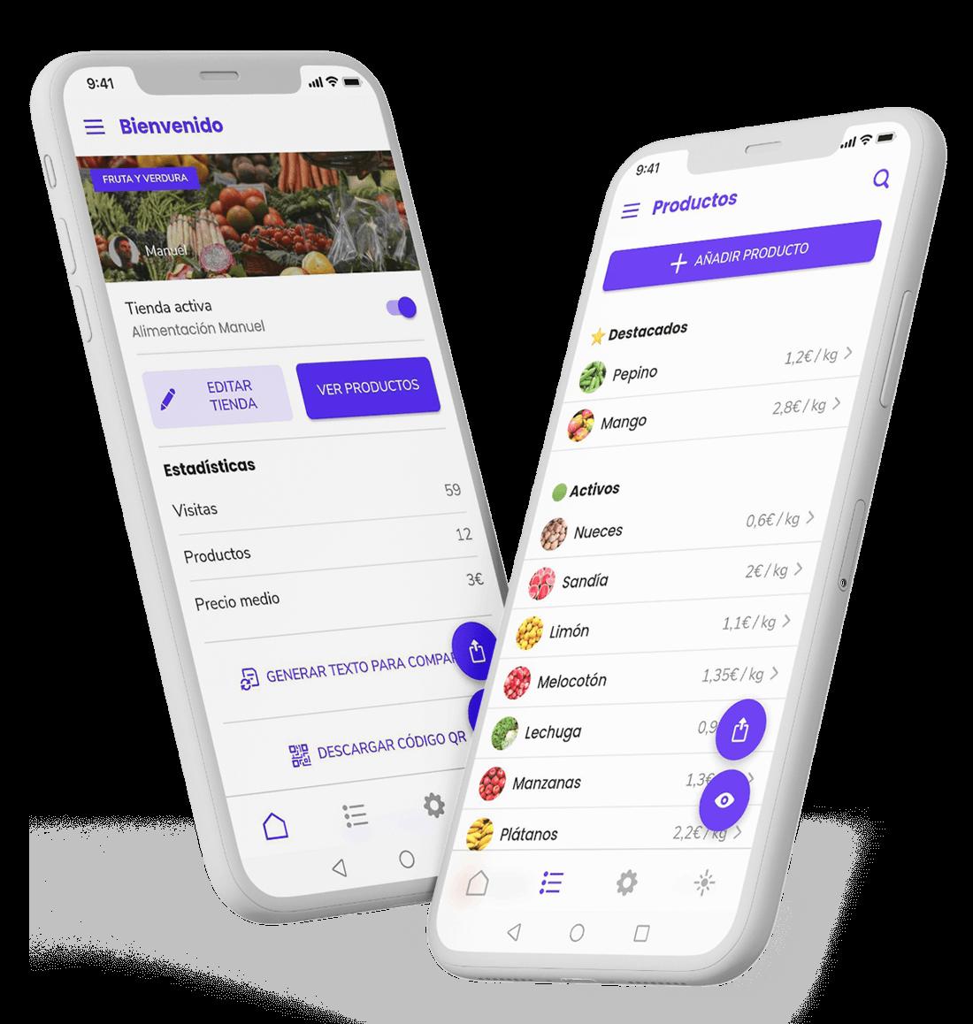 App de gestión de tienda online de productos frescos de Muylocal