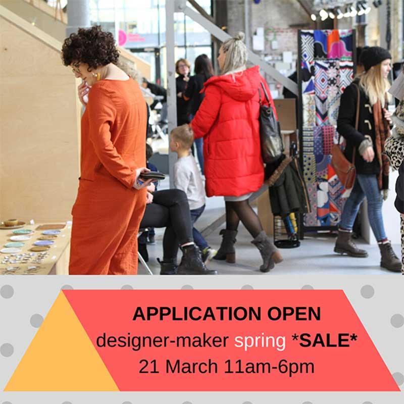 Apply Now Designer – Maker Spring SALE Saturday 21 March