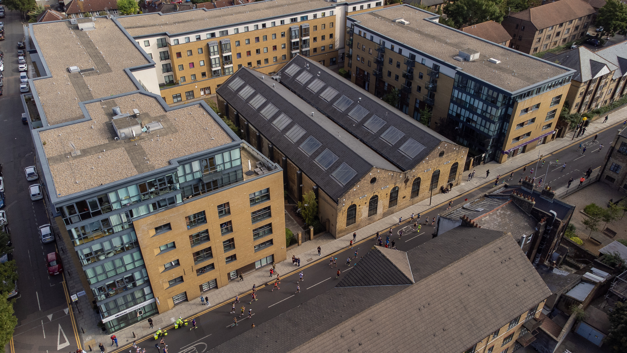 Aerial view of Craft Central taken by Jan Folga at The Forge during the London Marathon in October 2021