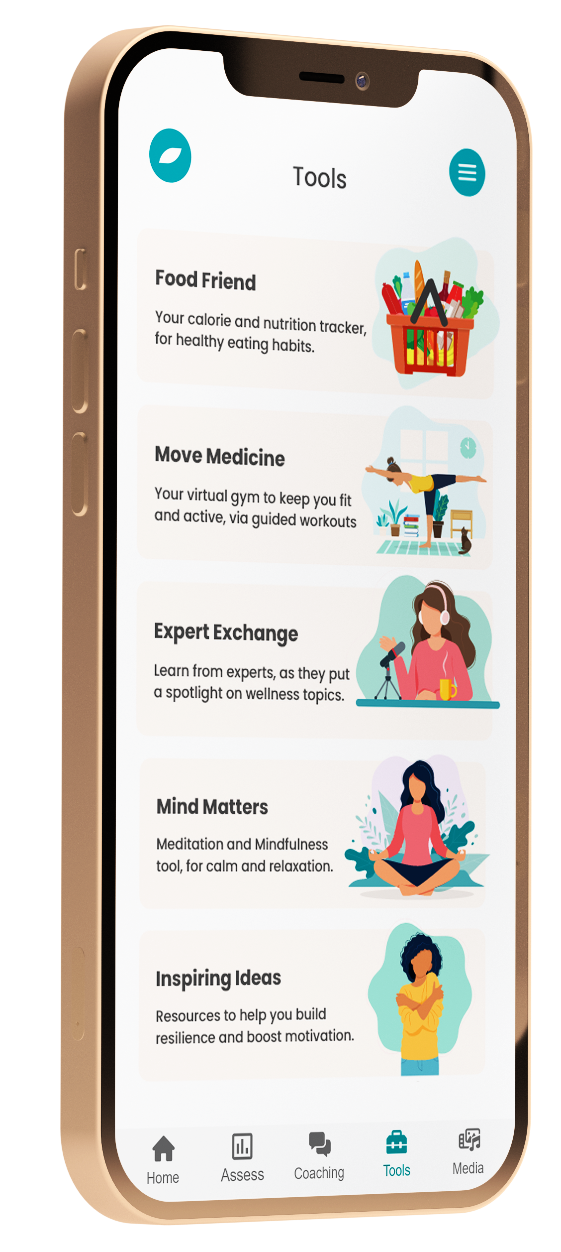 raiys wellness tools screenshot