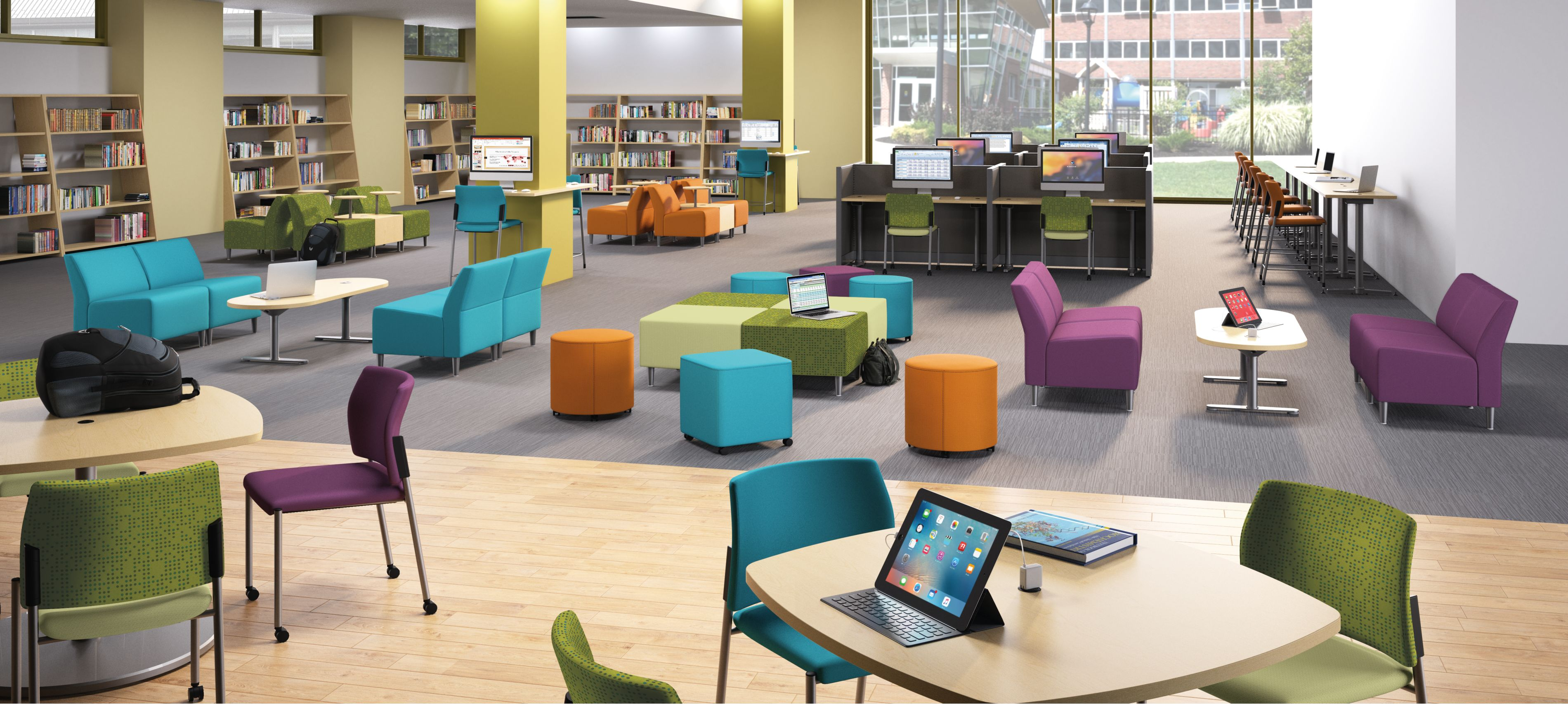"""Invite students to """"read and lead"""" within a library that sparks ingenuity and passion for learning."""