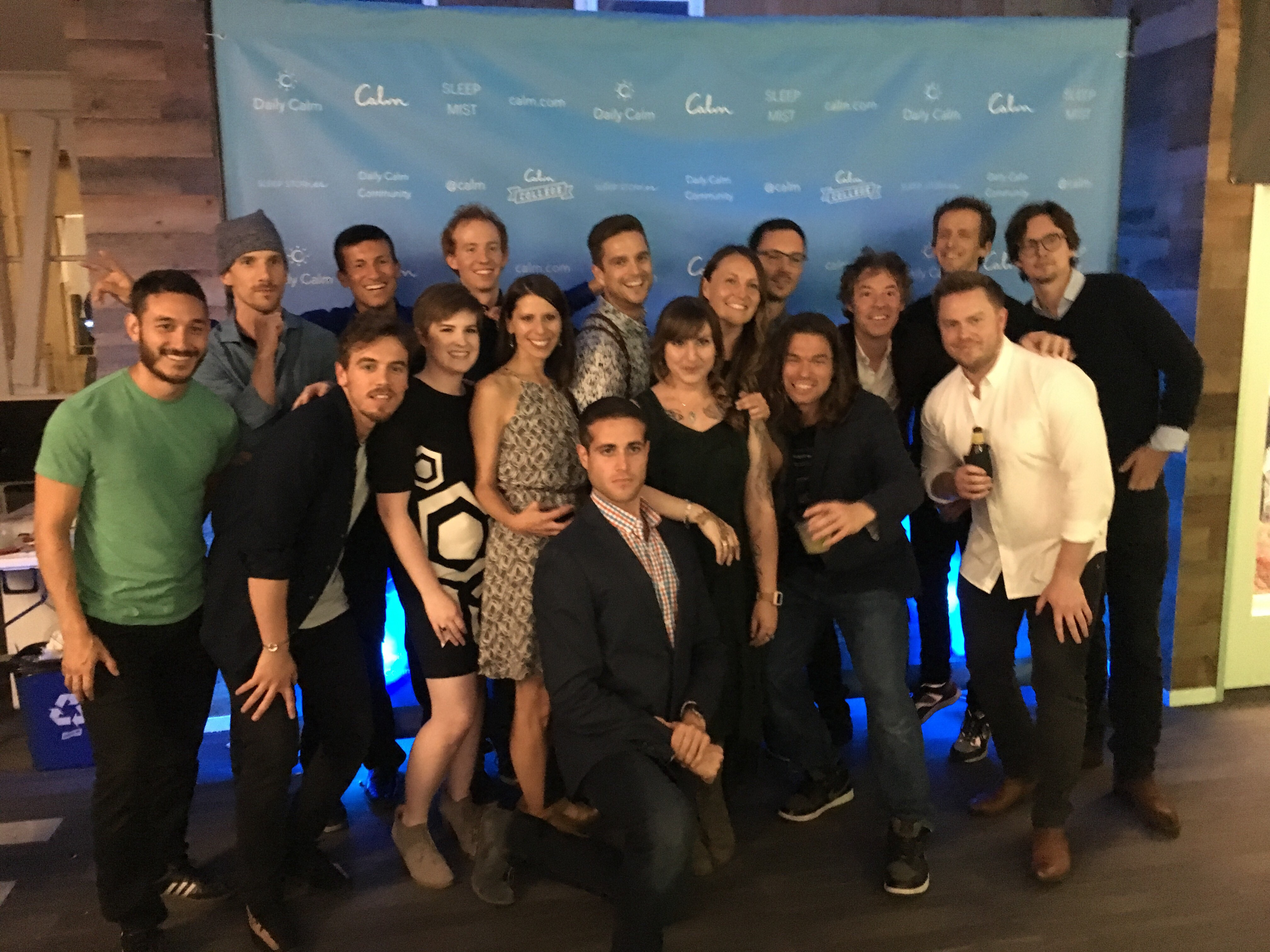 Image of the Calm team during their 10 million user party