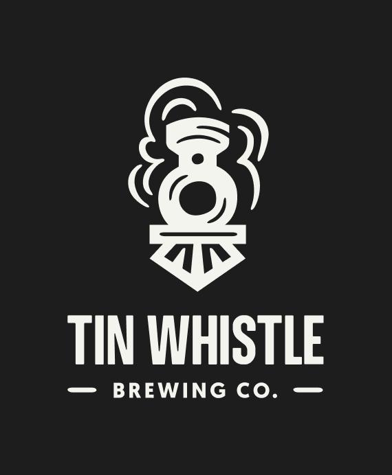 Tin Whistle Logo White Train