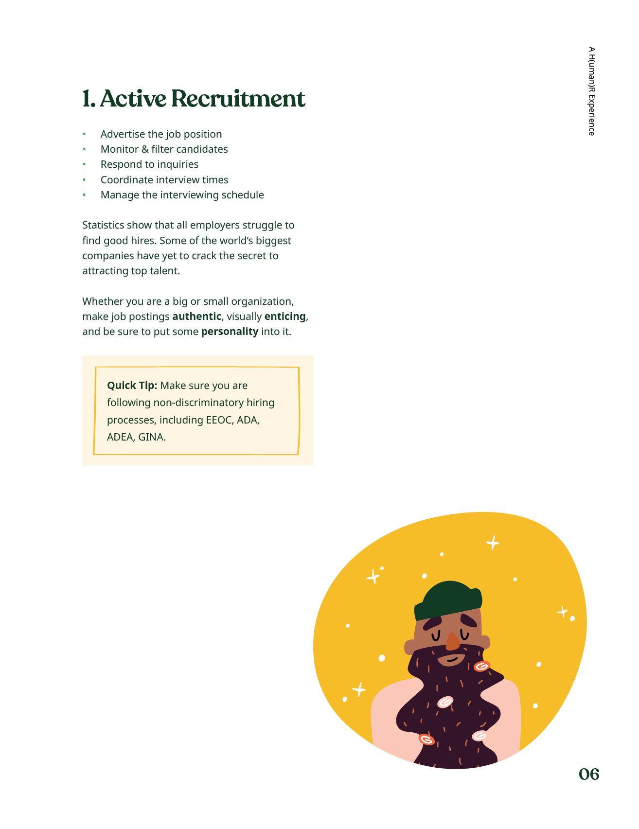 Ebook page about recruitment