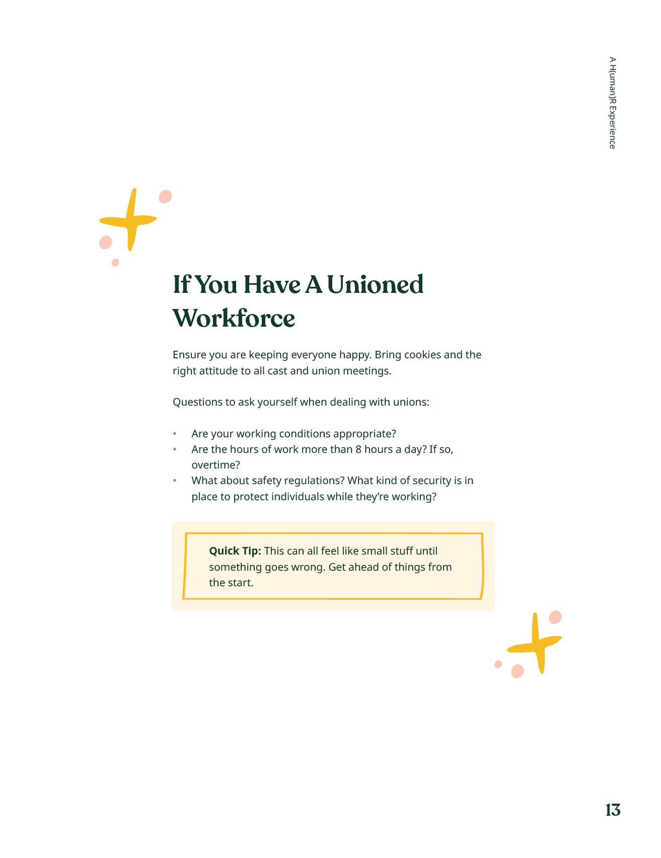 Ebook page about unioned workforces