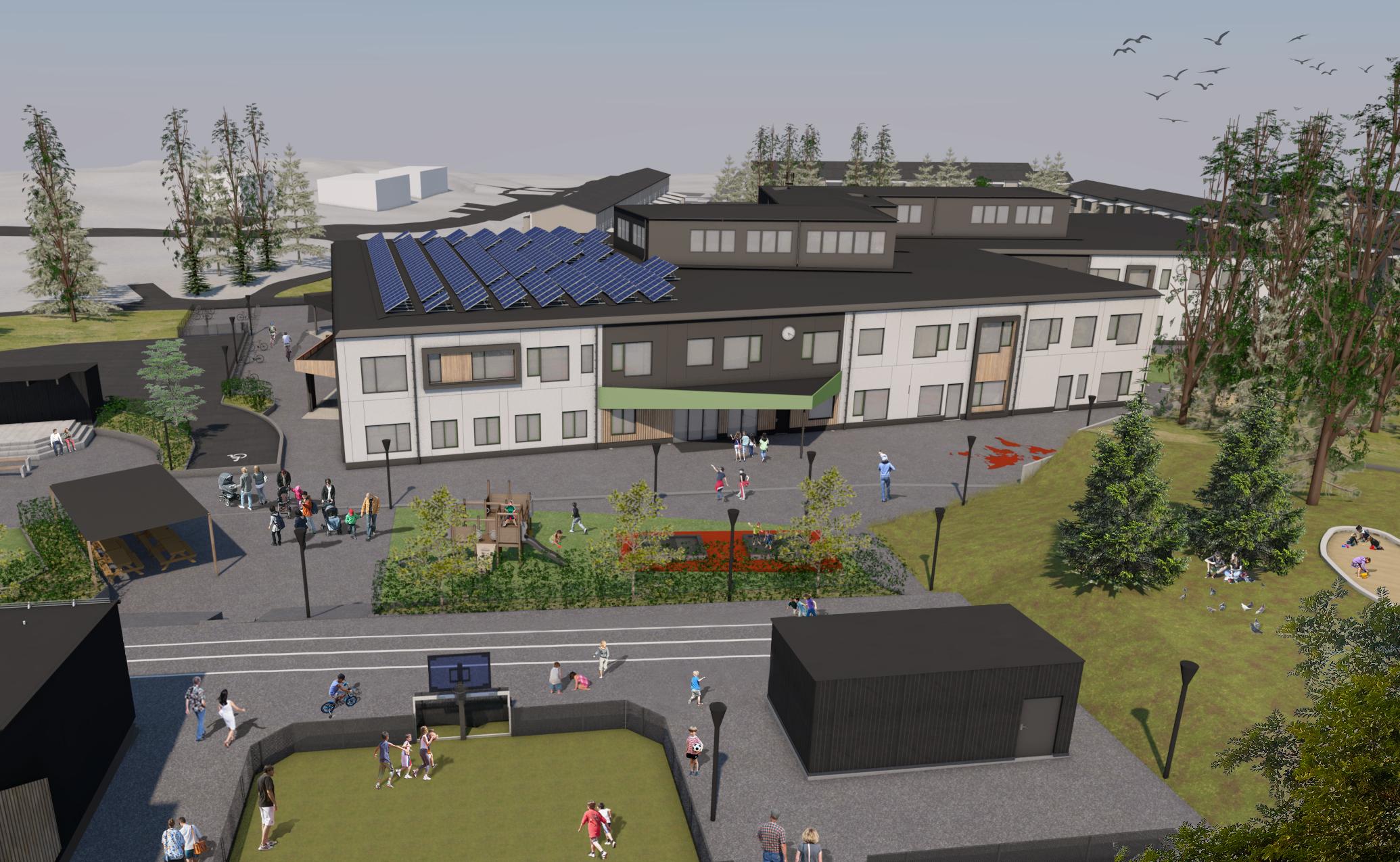 Samverkansprojekt för nybyggnation av skola i Älta för ca. 700 elever från F-6.