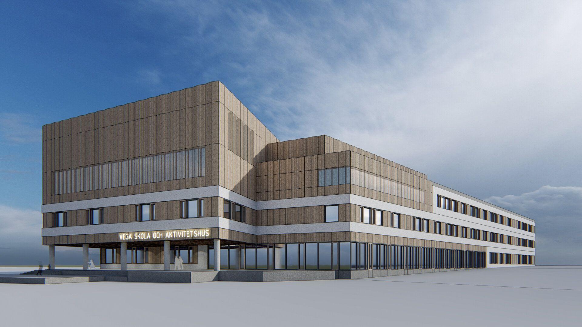 Nybyggnation av skola och aktivitetshus i Vegastan där N20 genomfört projektering av el- och telesystem