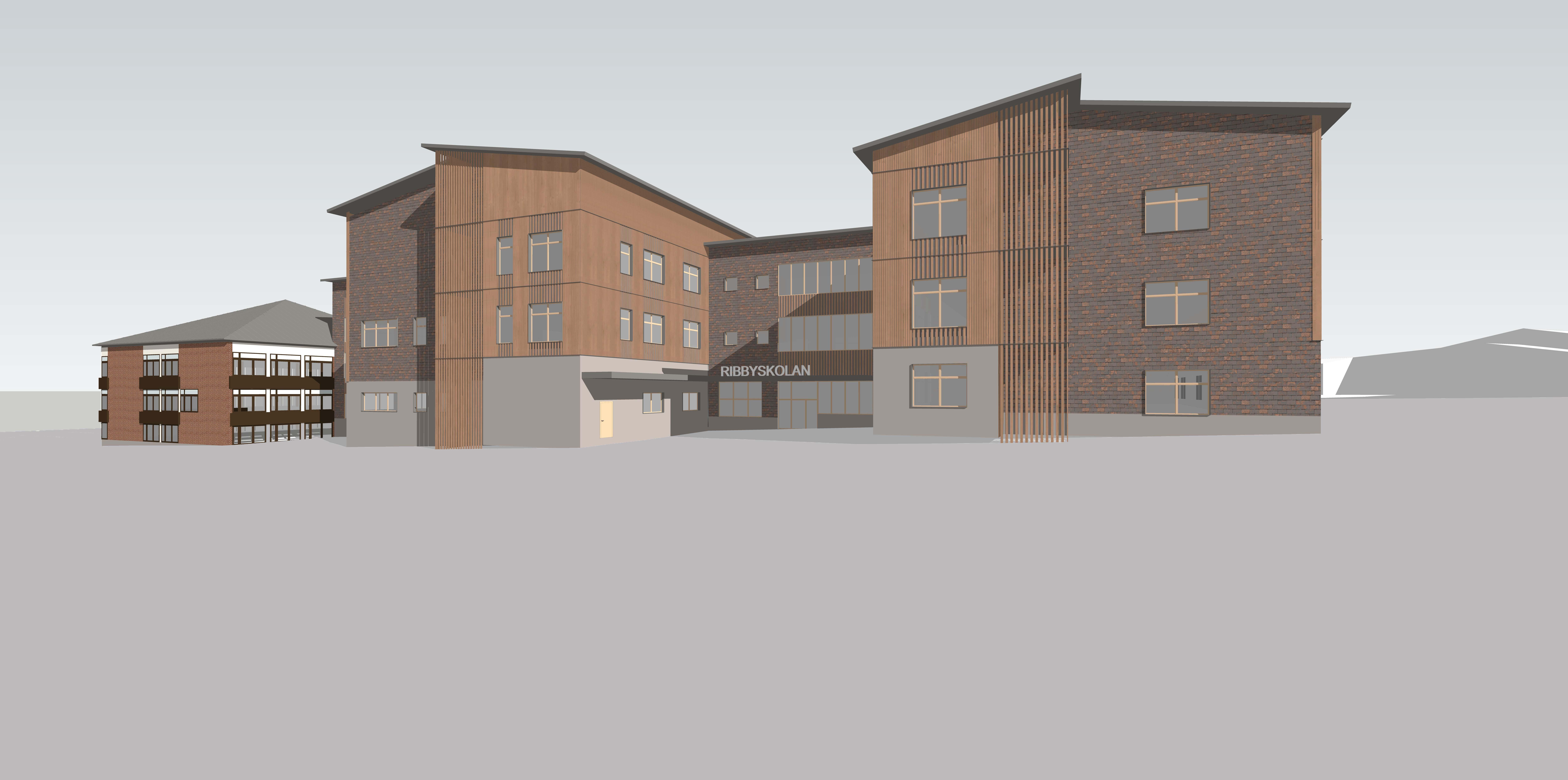 N20 har projekterat el-och telesystem inför renovering och tillbyggnad av Ribbyskolan i Haninge Kommun.