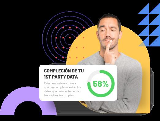 Un marketer observa con preocupación el porcentaje de compleción de su 1st Party Data.