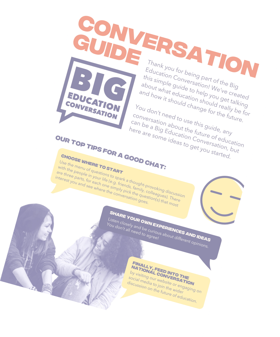 Big Education Conversation guide blurred preview