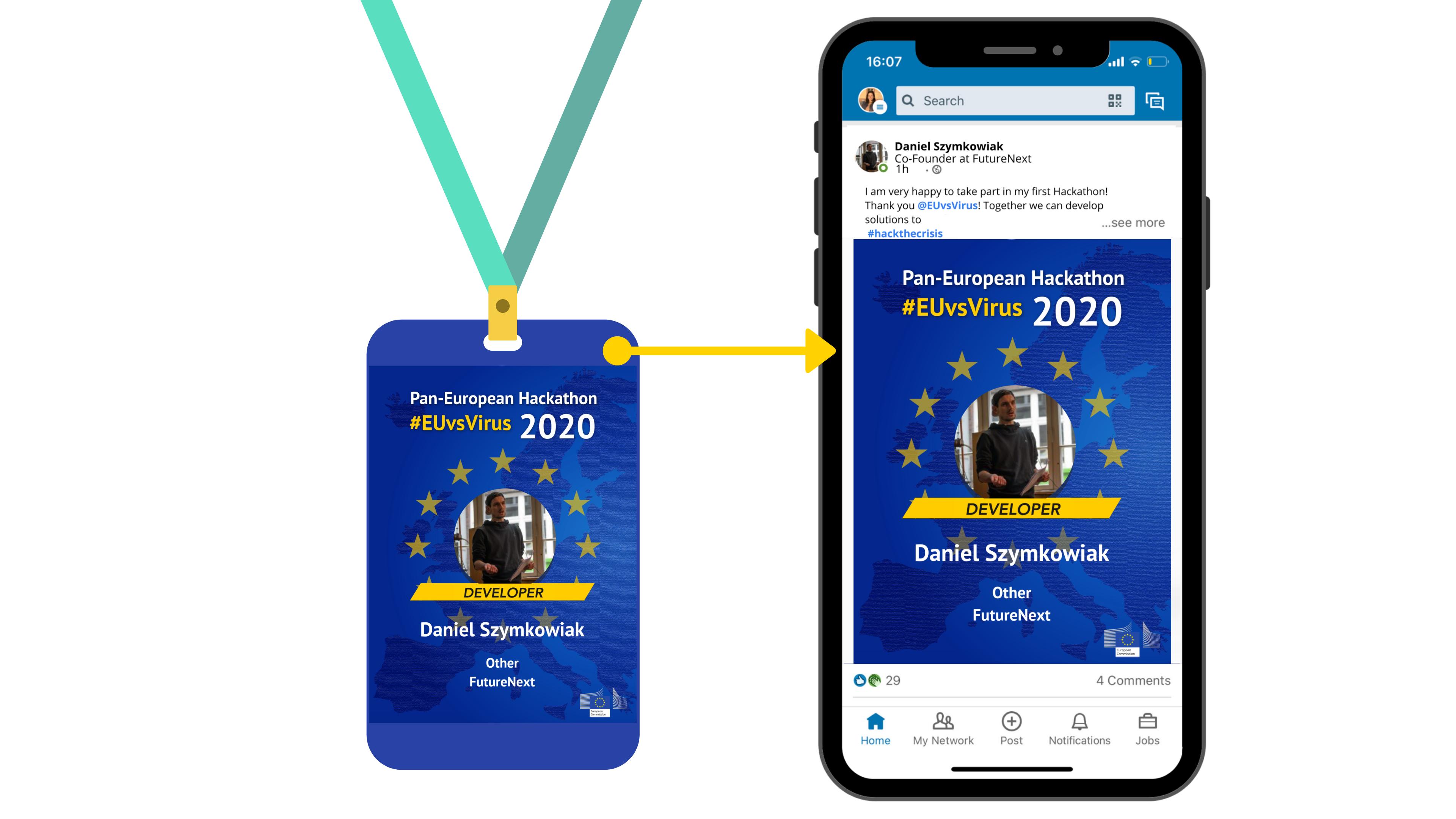 digital badges on linkedIn