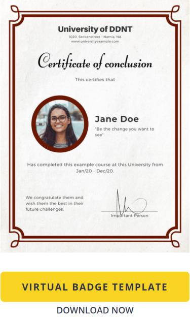 Certificate Template: Virtual Badge Classic