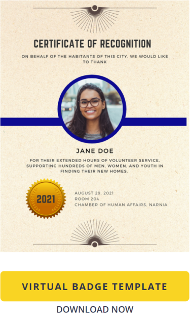 Certificate Template: Virtual Badge for Recognition