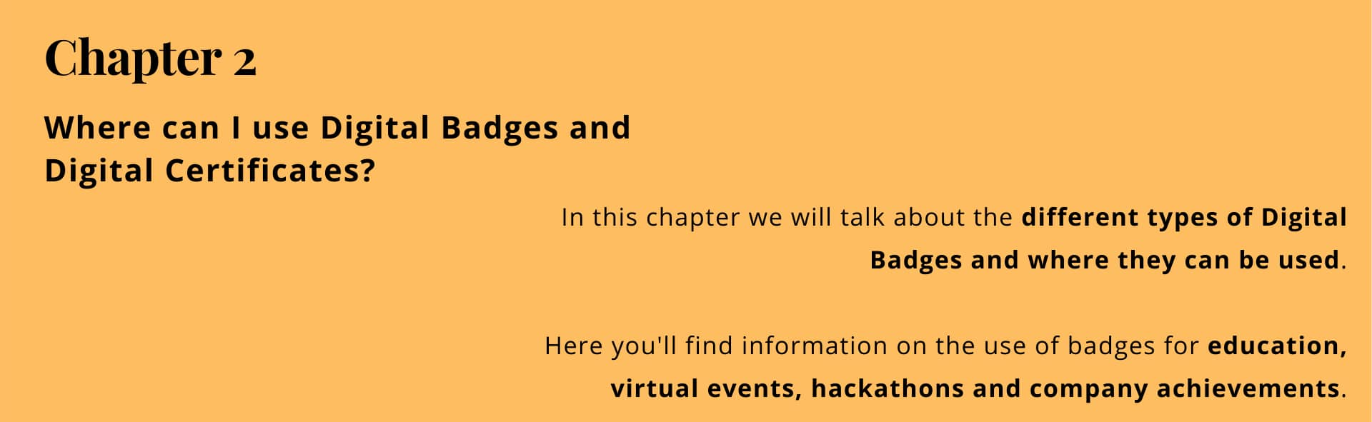 Chapter 2: where can I use digital badges and digital certificates?