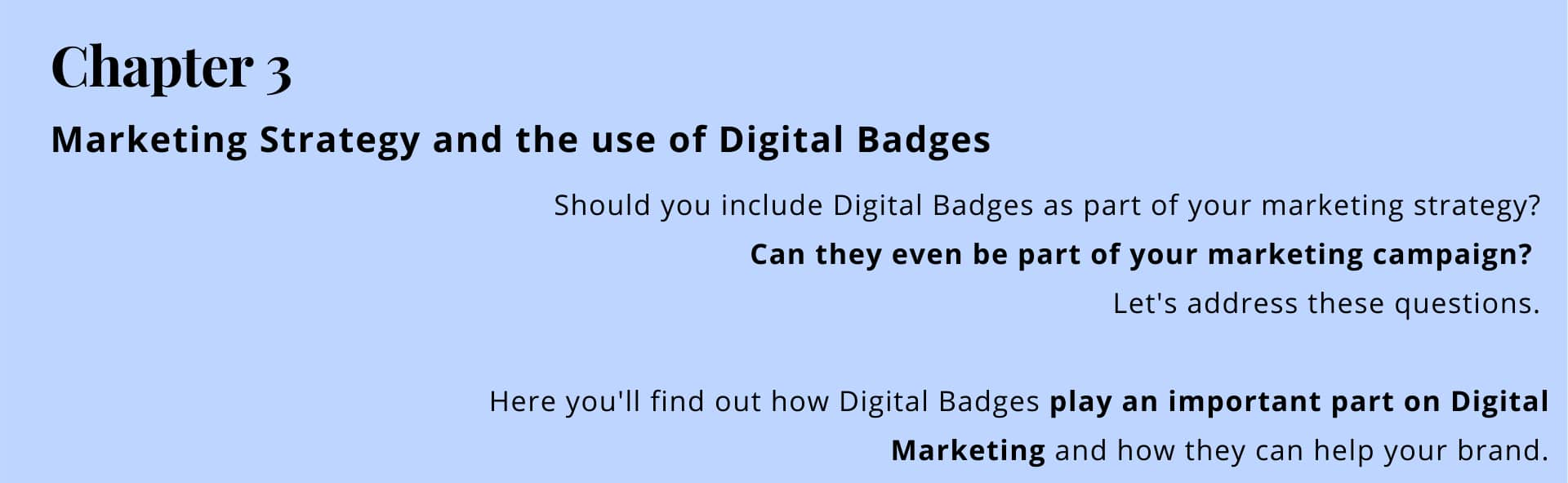 Chapter 3: using digital badges as part of your marketing strategy