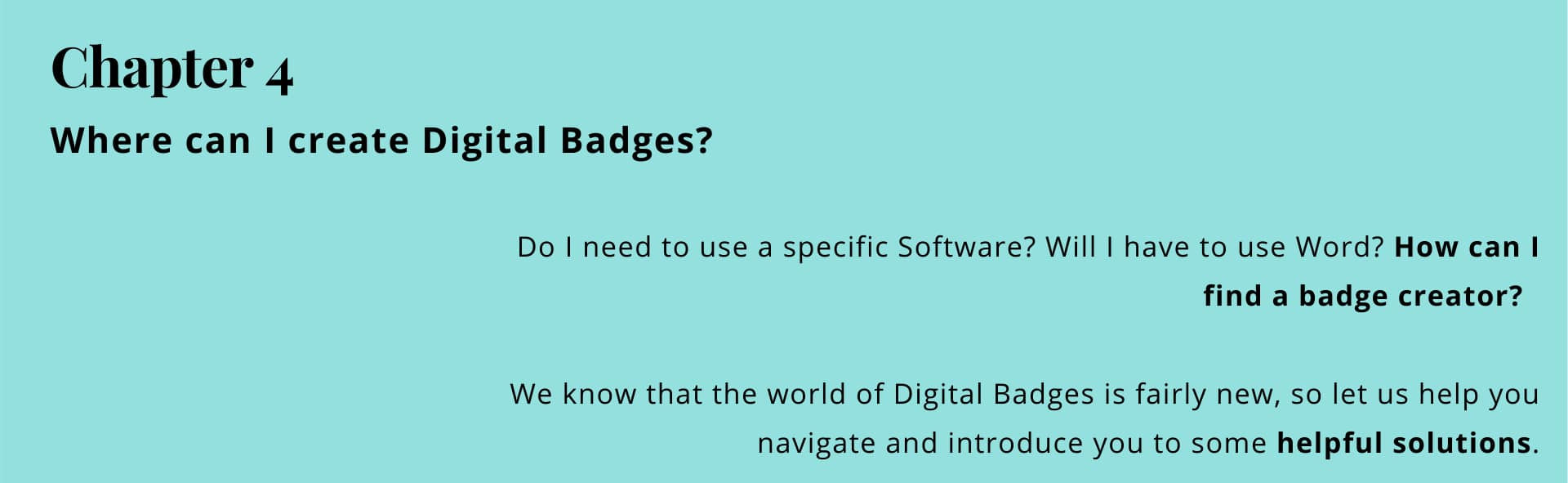 Chapter 4: where can I find a badge creator/badge maker?
