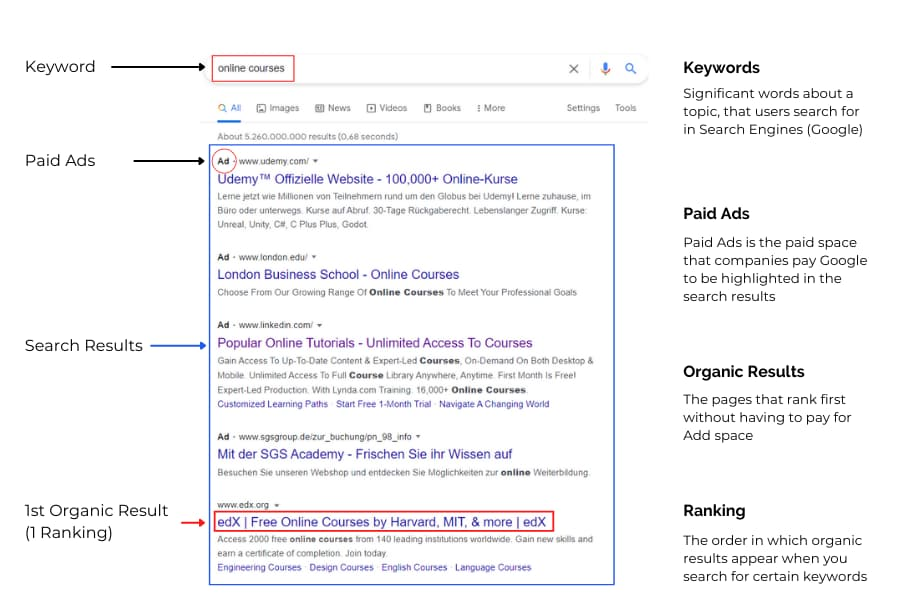 SERPs format and explanation