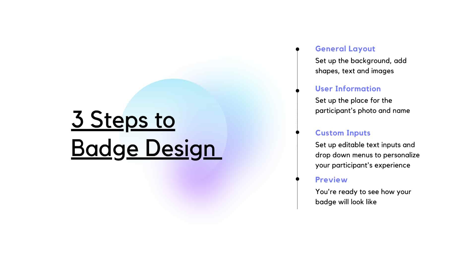 badge design 3 steps to do it