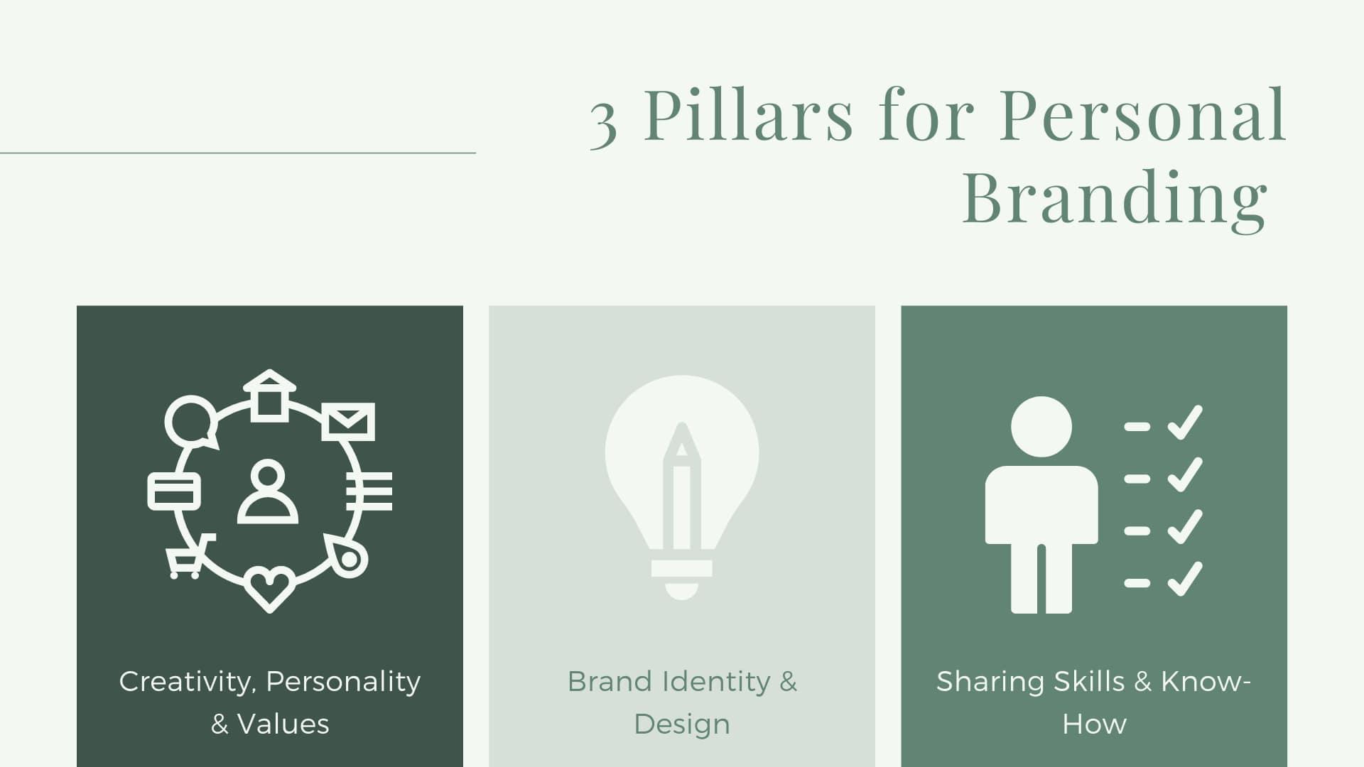 the 3 pillars of personal branding