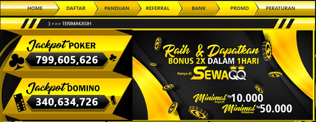 Situs judi qq pkv games deposit pulsa 10.000 ini tentunya menyediakan bonus-bonus yang tidak situs lain berikan.