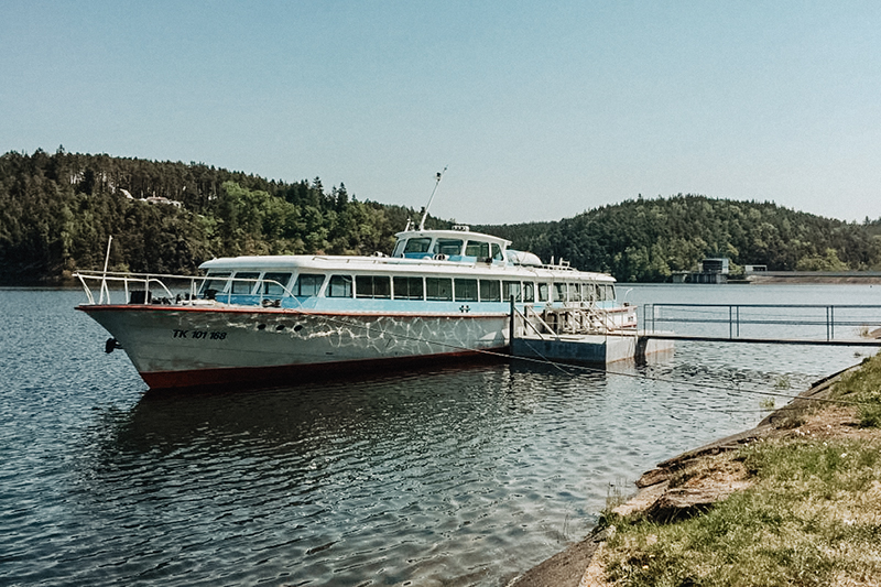 Plavba po přehradě Hracholusky