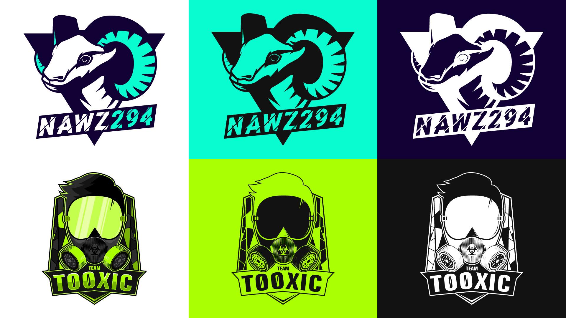 nawz294 & Team Tooxic Logos