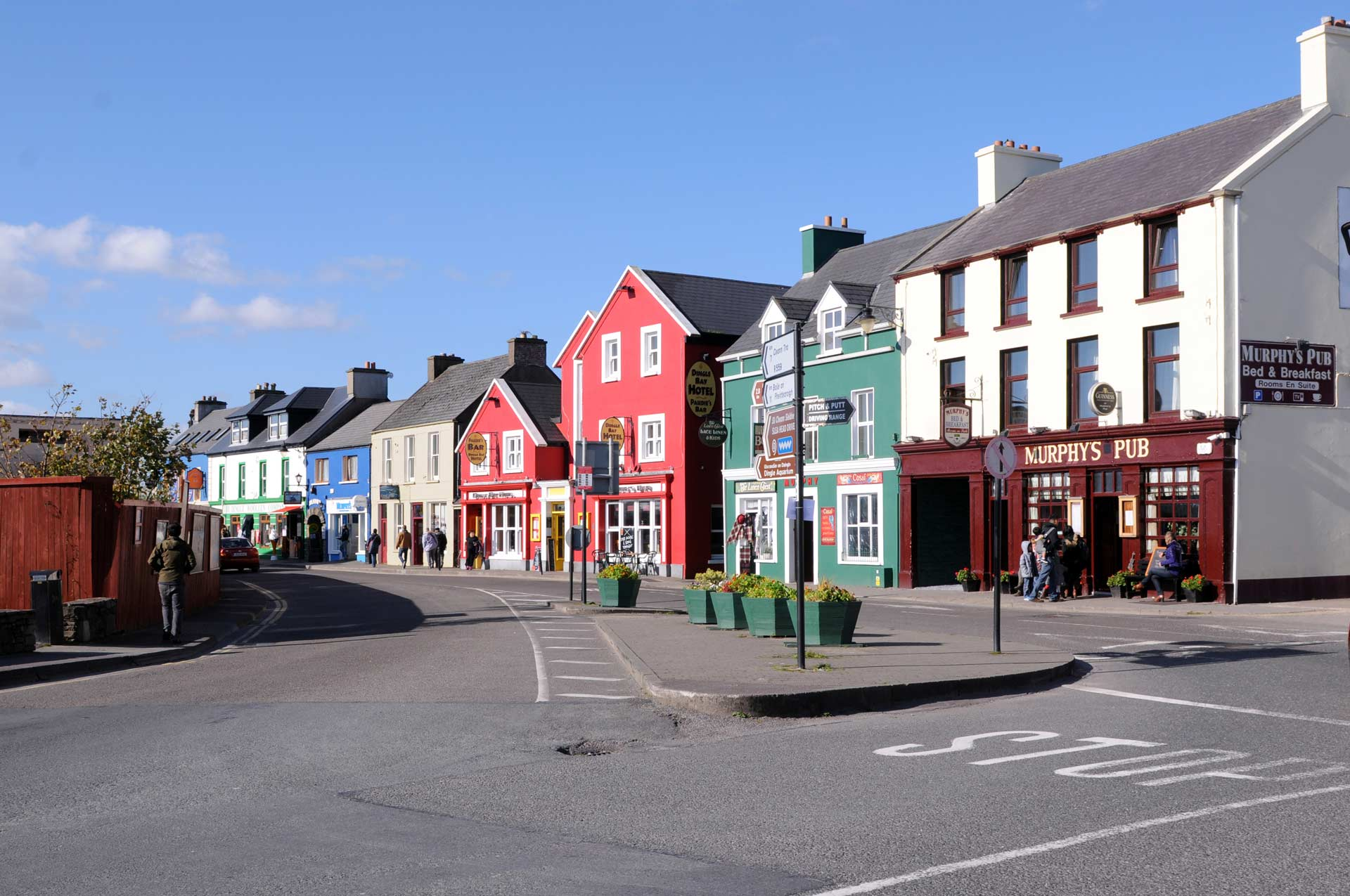 Street view of Dingle in Kerry in Ireland where you can find our self catering holiday accommodation rentals