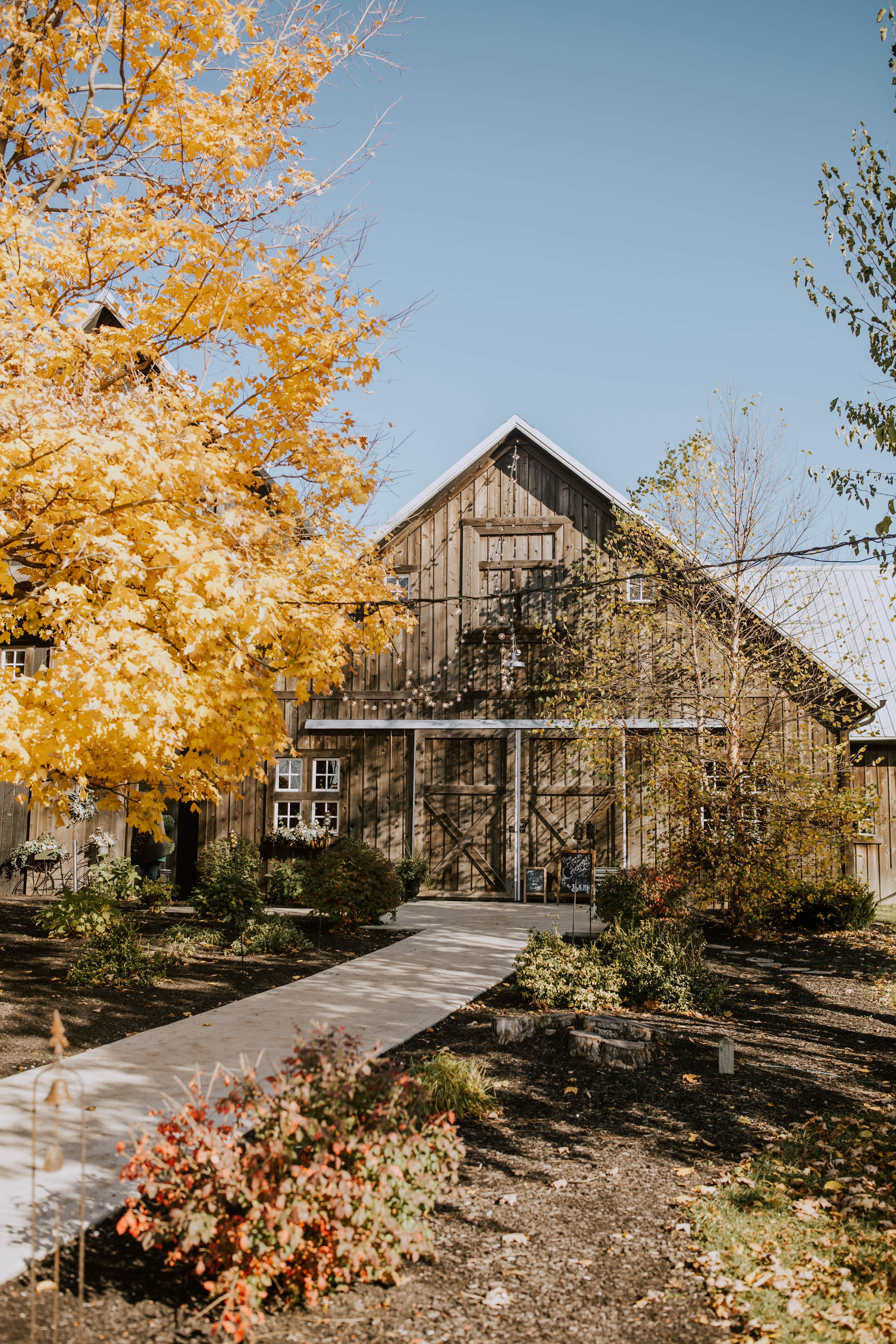 Barn during autumn