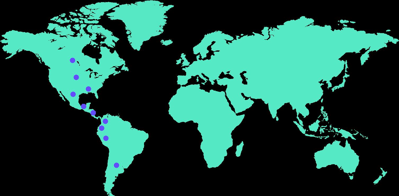 mapa de donde se ha implementado elemental pro