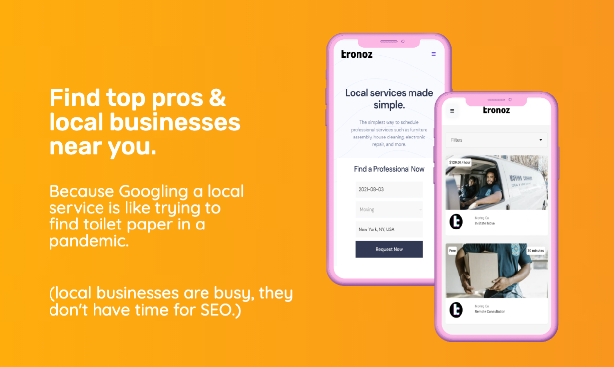 The easy, reliable way to book local services