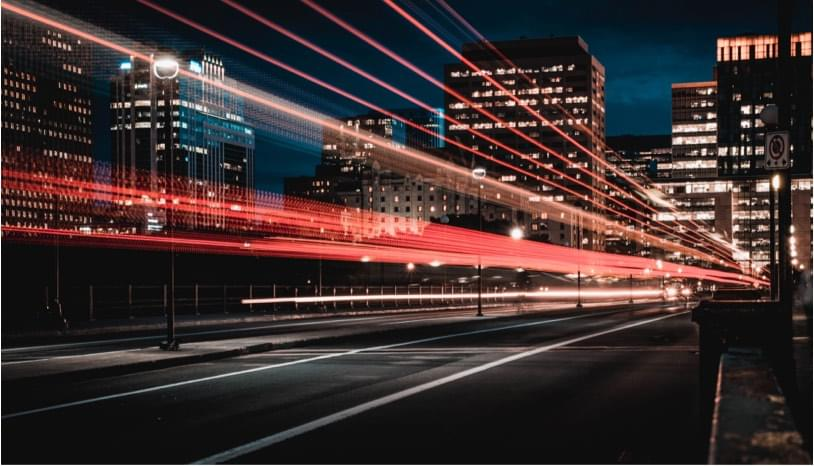 i photo of city traffic in the night
