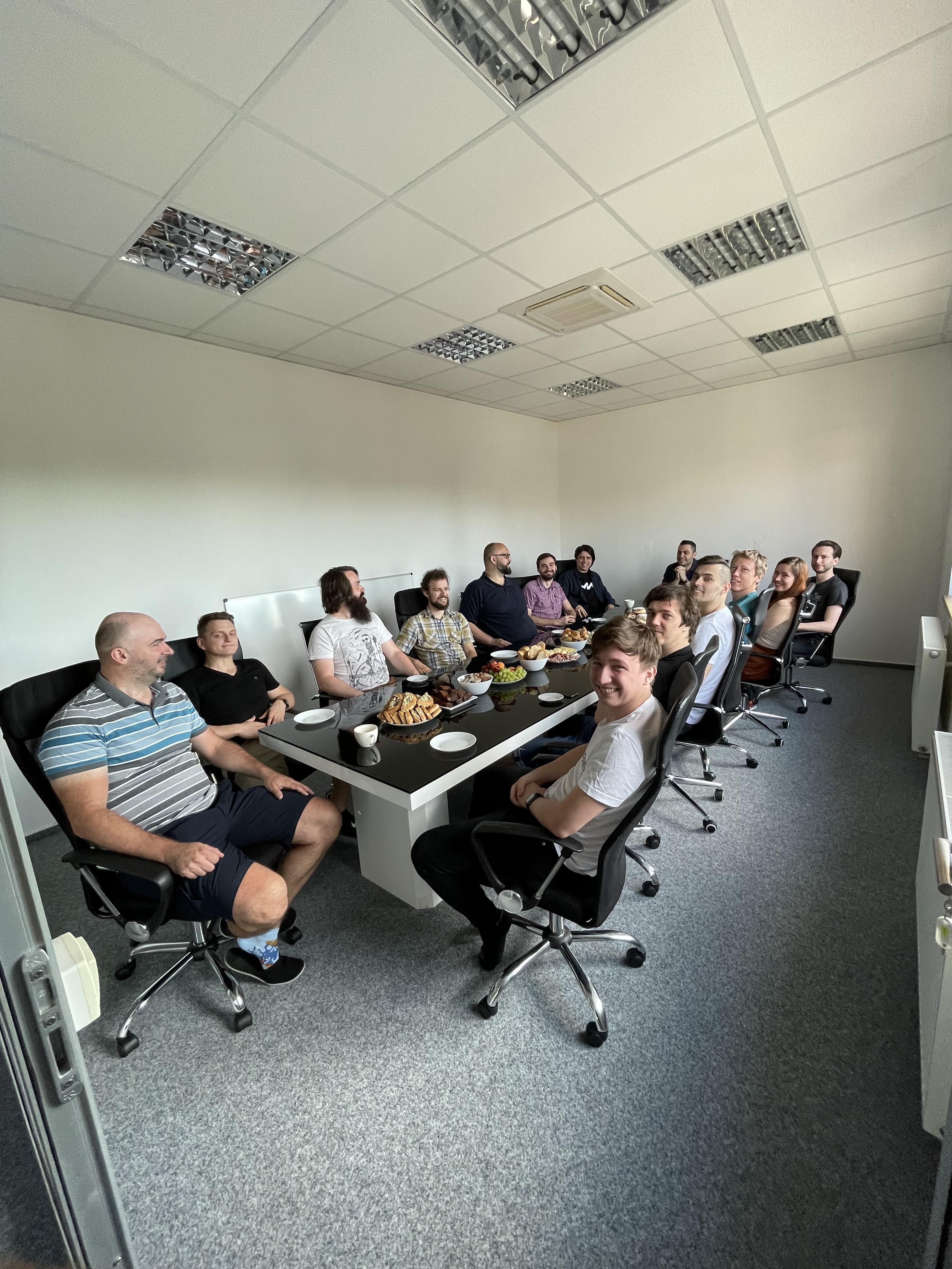Společné setkávání v kanceláři