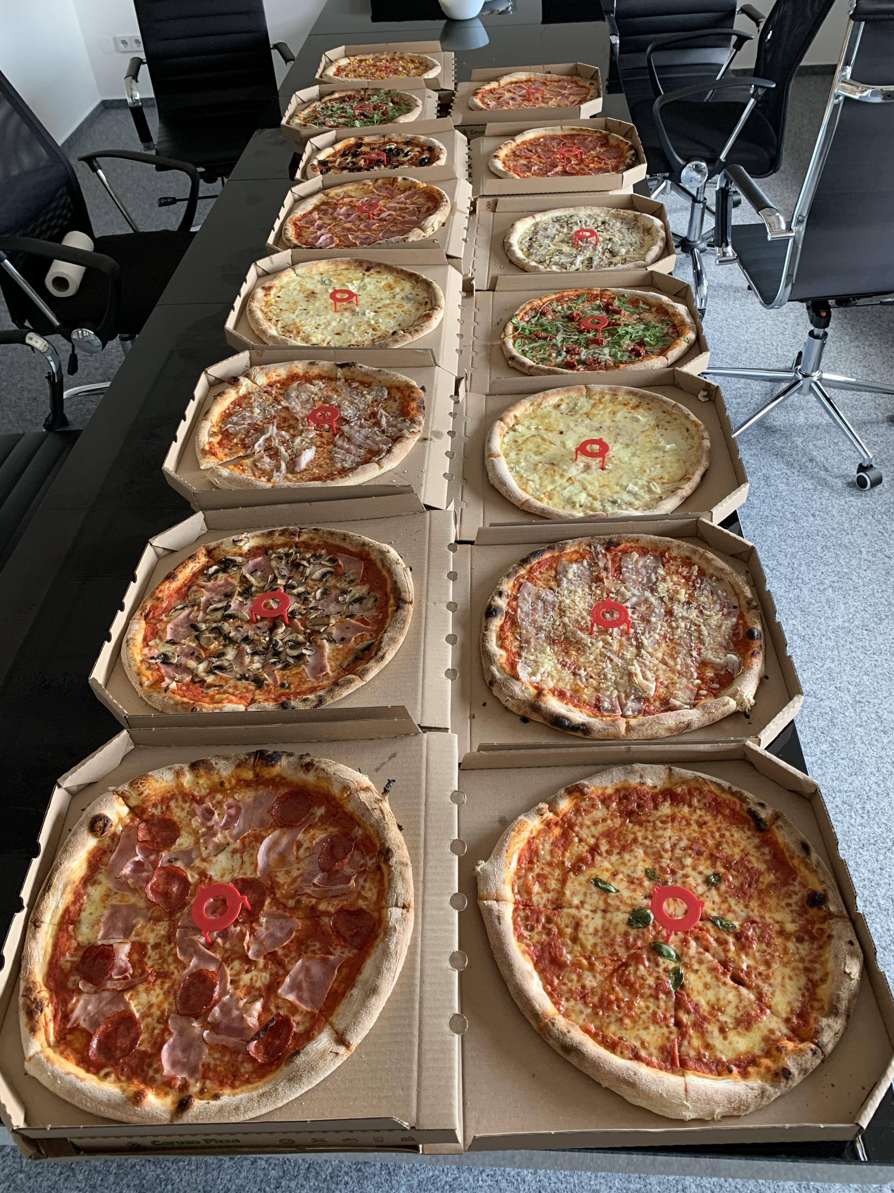 Pizza na teambuildingu