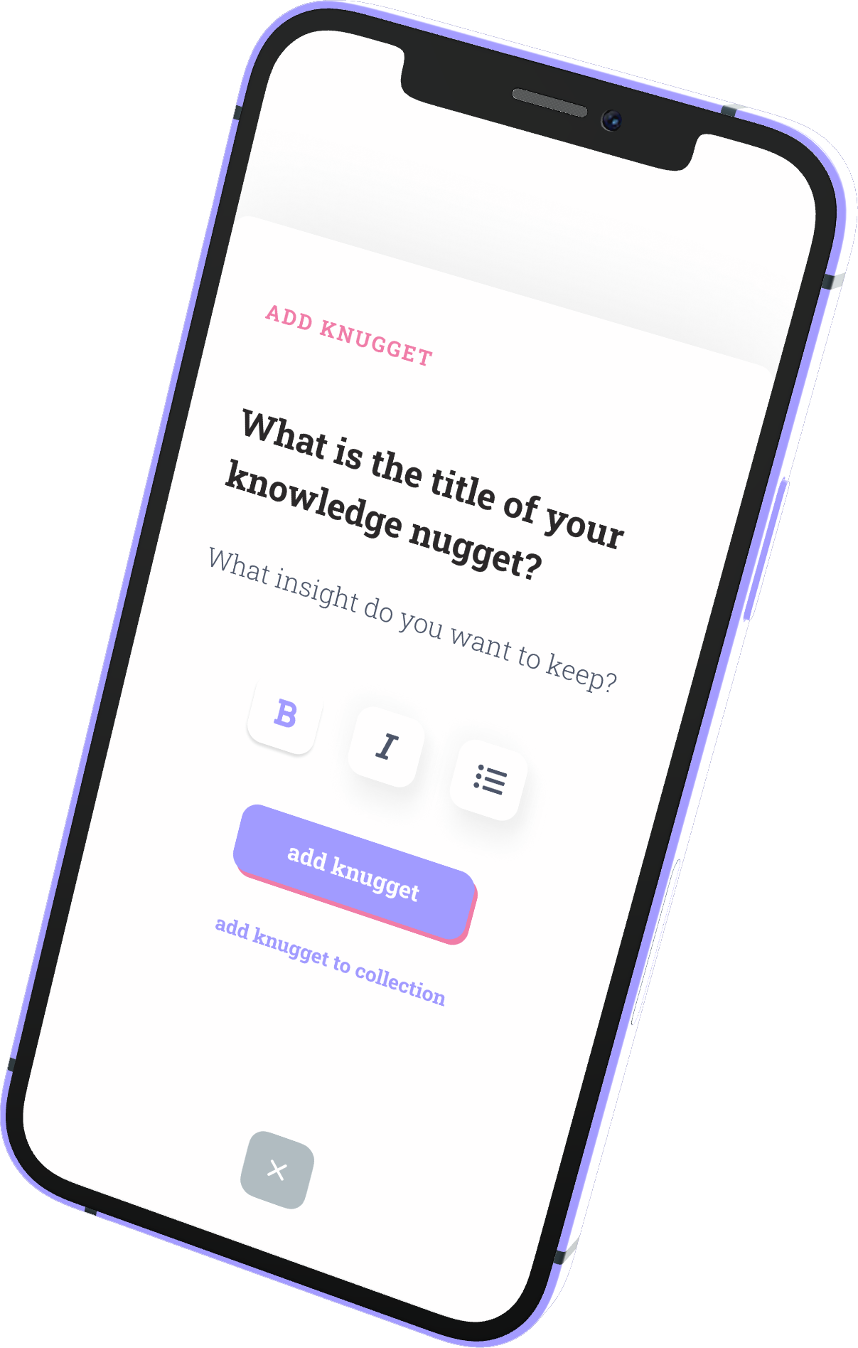 Add Knugget app download for iPhone and Android