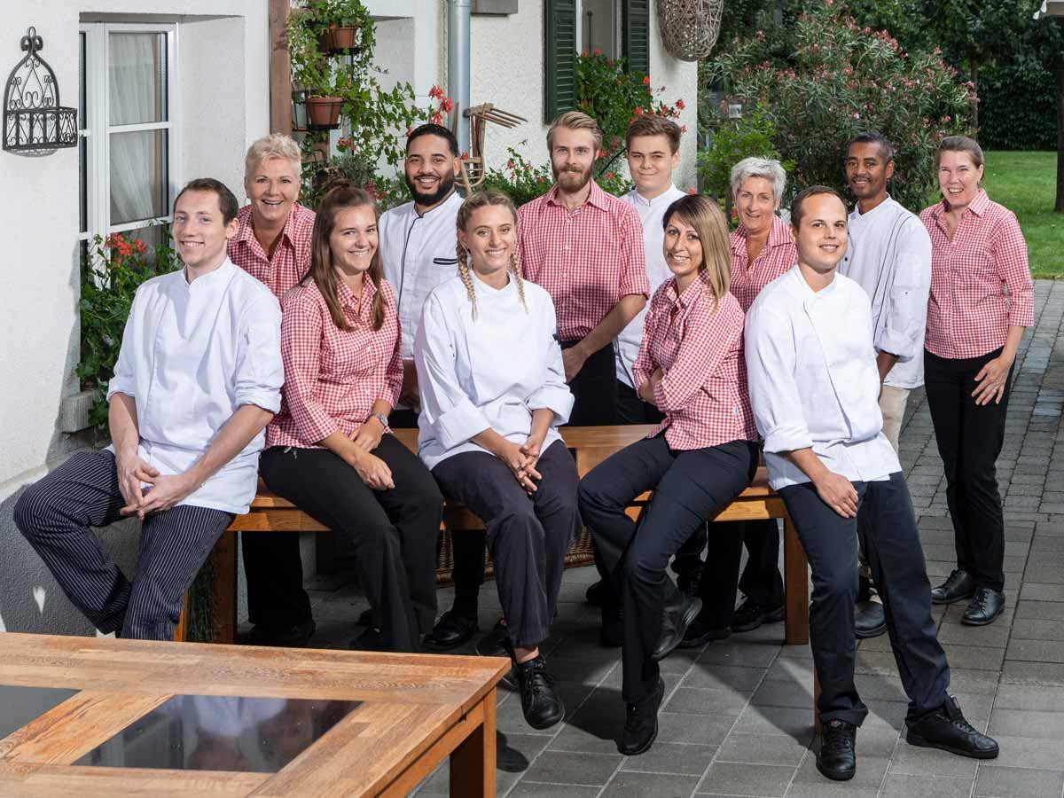 Gastgeberteam Restaurant Burehuus