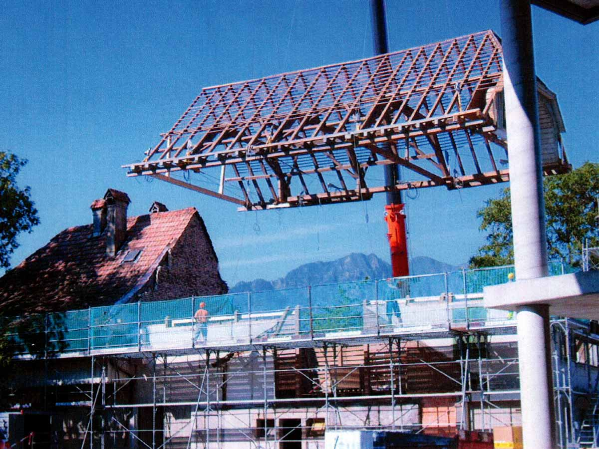 Restaurant Burehuus im Umbau ohne Dach