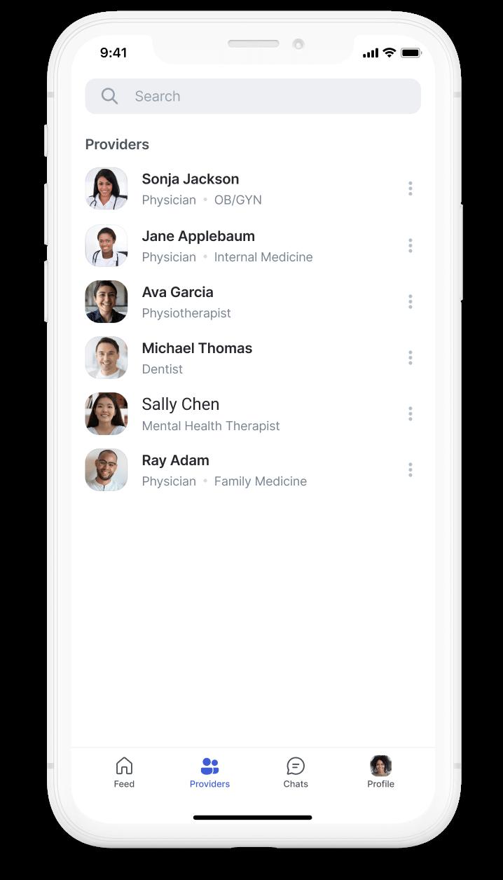 User's Provider list