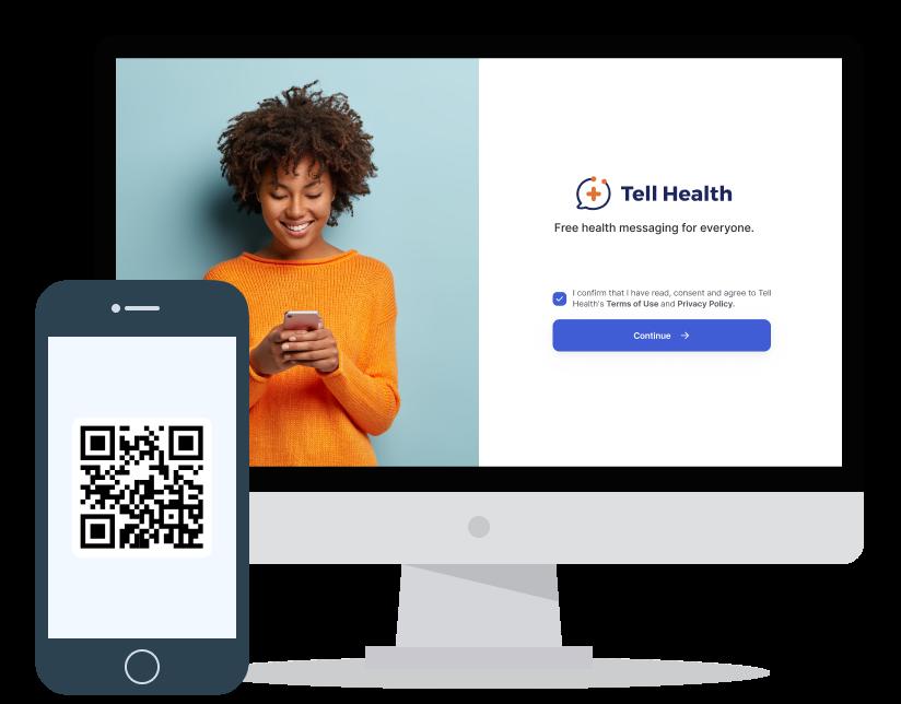 Web Tell Health QR code