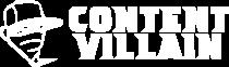 Content Villain logo in white
