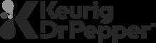 Keurig Dr. Pepper logo grayscale