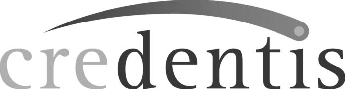 Credentis logo grayscale