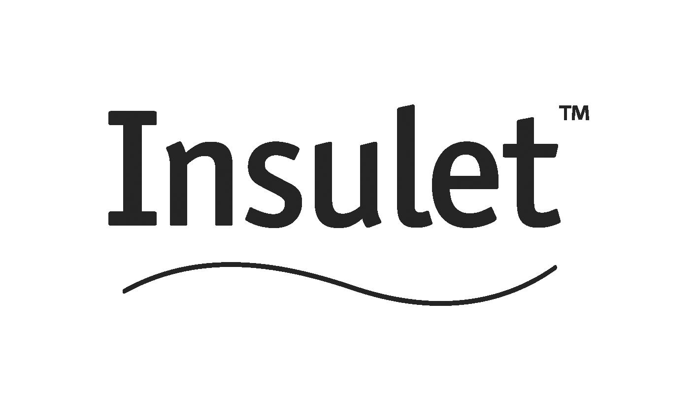 Insulet logo grayscale