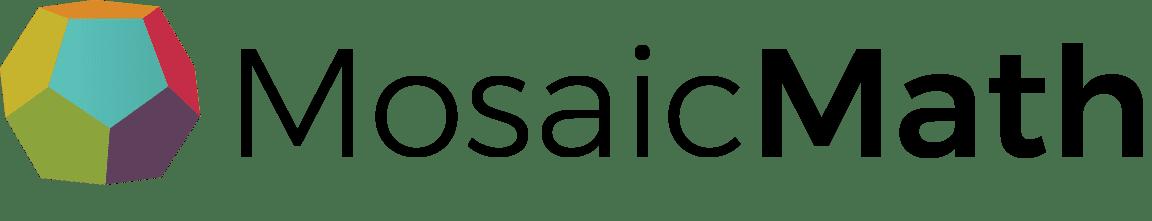 The MosaicMath tutoring logo with black text.
