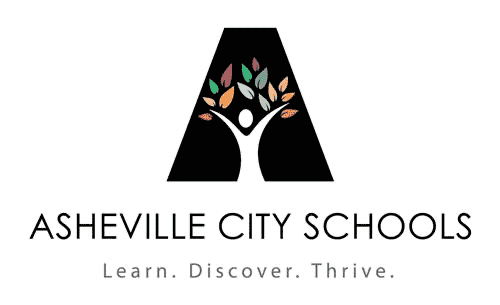 The Asheville City Schools logo.