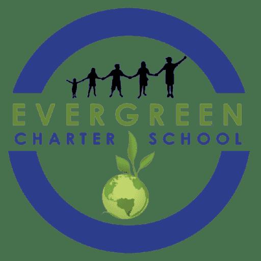 The logo for Evergreen Community Charter School.