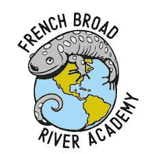 The logo for the French Broad River Academy school.