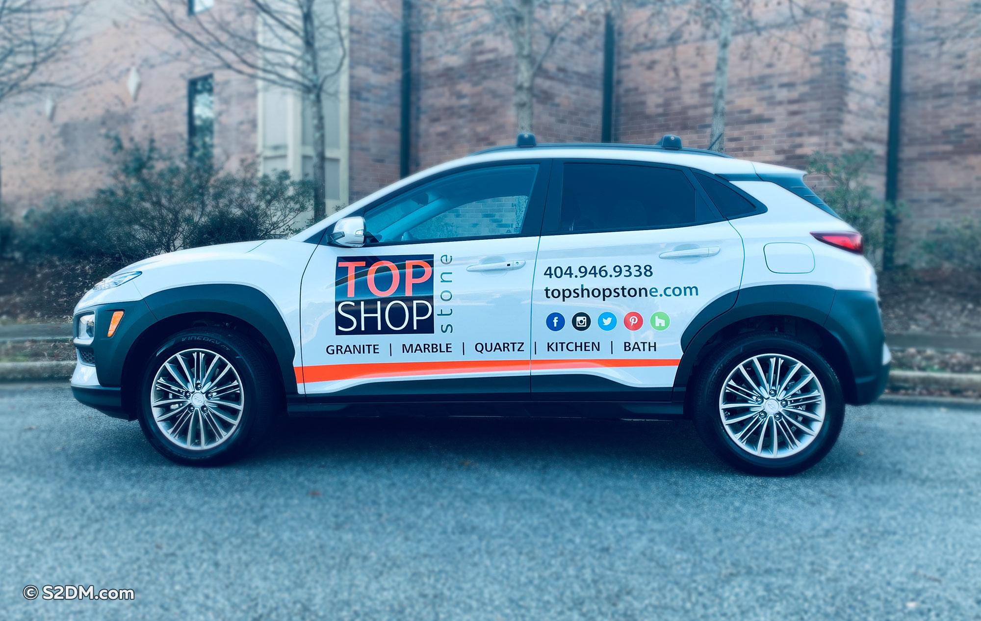 Top Shop Stone Hyundai Kona wrap
