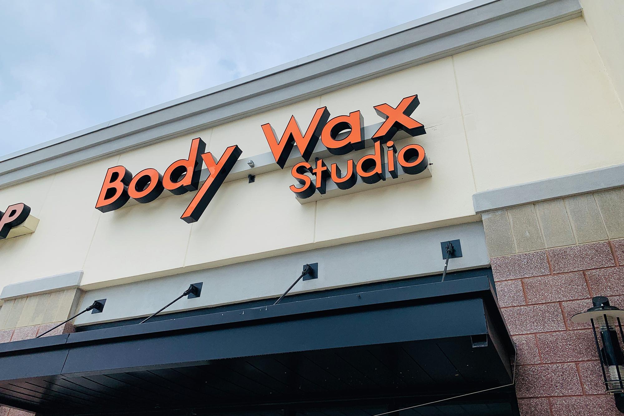 Body Wax Studio sign